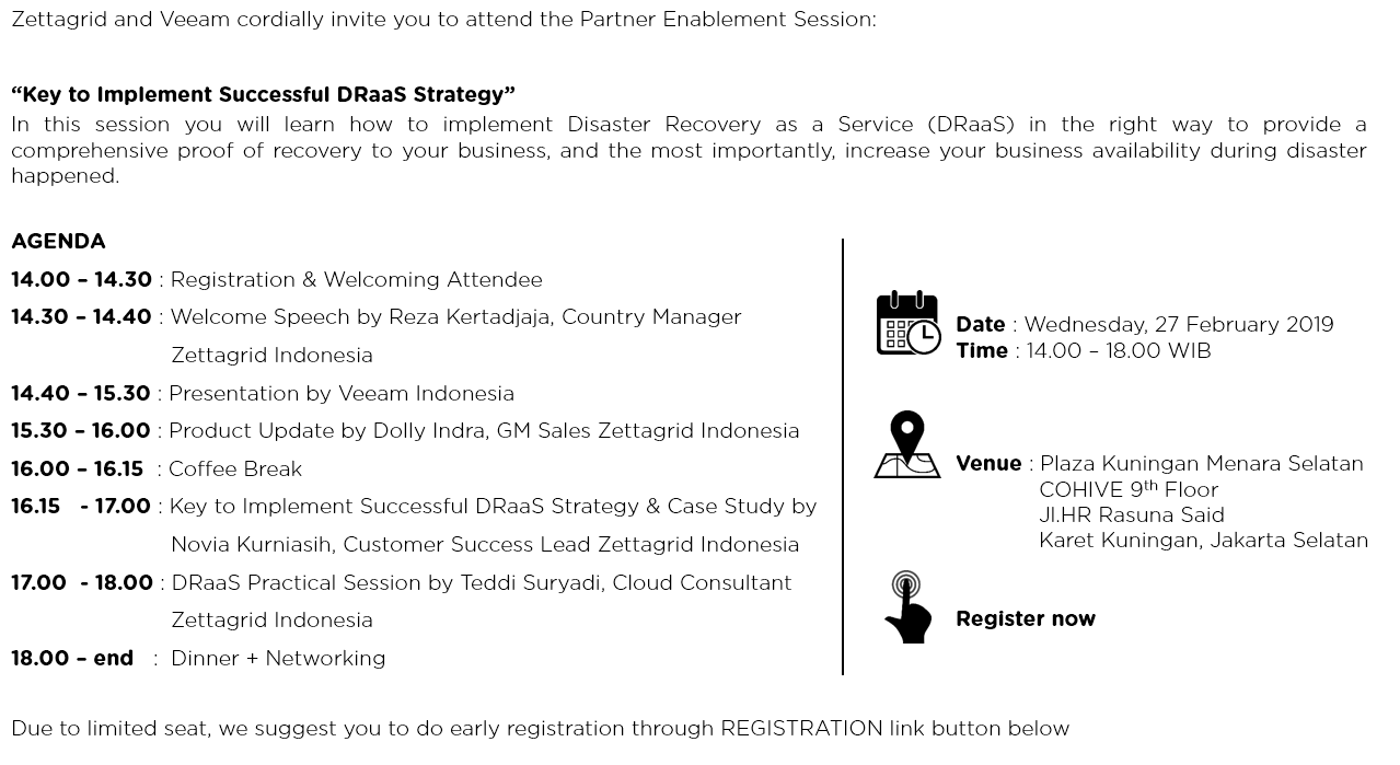 partner enablement session